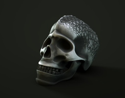 3D print model skull face