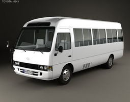 Toyota Coaster with HQ interior 2014 mk3f 3D