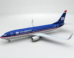 3D Boeing 737-800 NG Airliner - US Airways