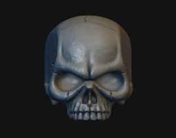 3D printable model Skull Stylized