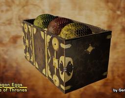 3D model Dragon Eggs