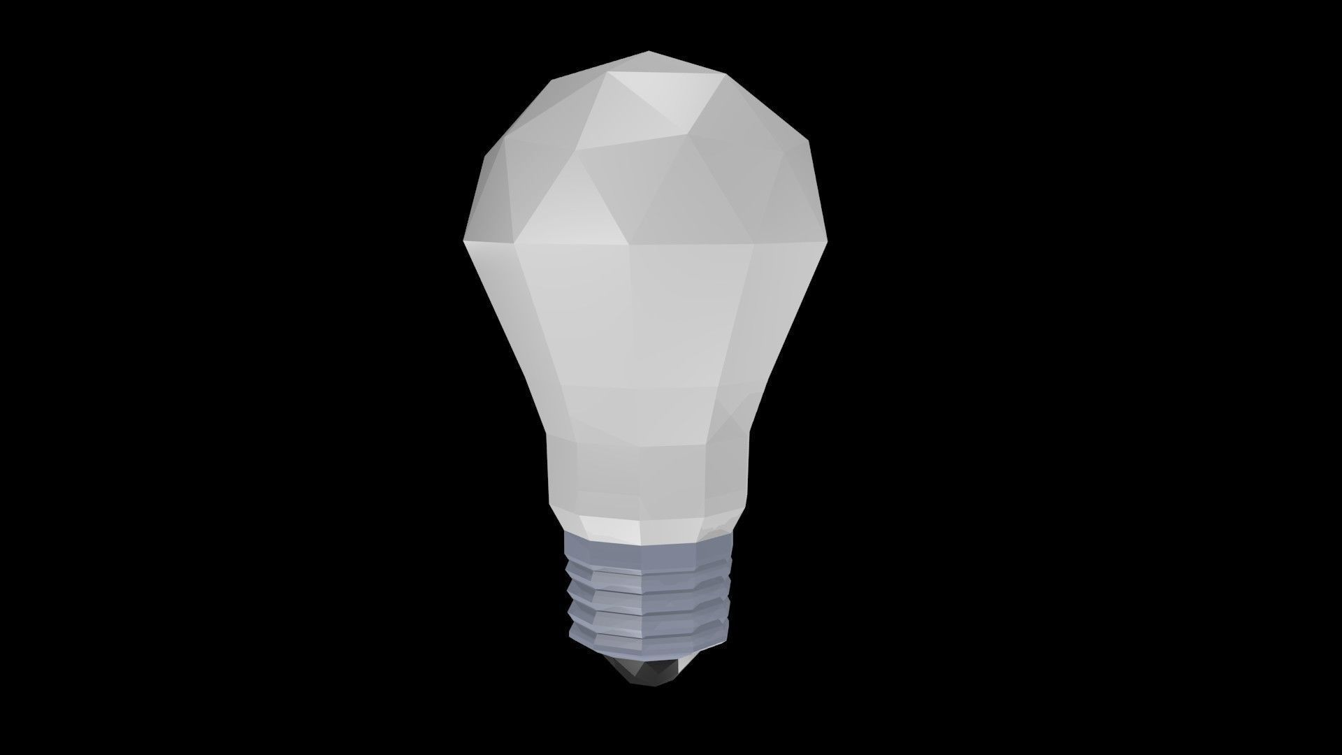 Low poly bulb