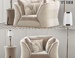 3D Turri Vogue armchair set