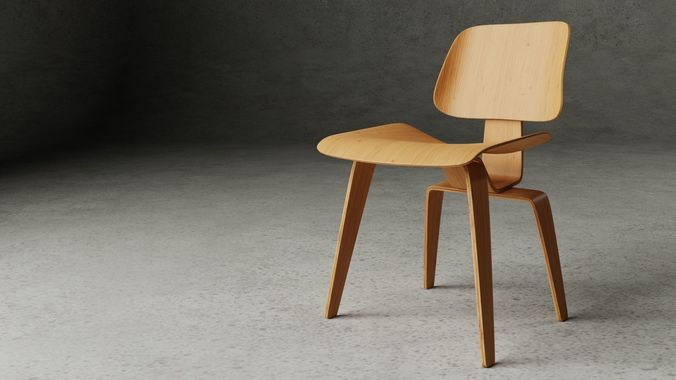 lcw - lounge chair wood 3d model obj mtl fbx blend 1