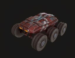 VR / AR ready Low poly sci fi rover model