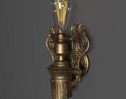 Antique loft Wall Light 3D model