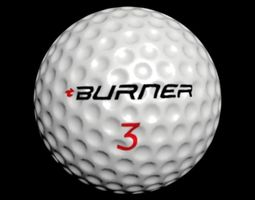 golf ball 3D asset low-poly