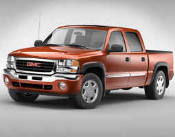 3D model GMC Sierra Crew Cab 2001 - 2007