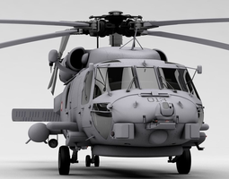 MH-60R Danish Seahawk Navy Helicopter 3D