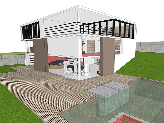 Modern house free 3d model 3ds dae dwg skp cgtrader House 3d model