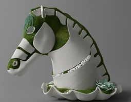 3D Horse - Sculpture of moss and concrete