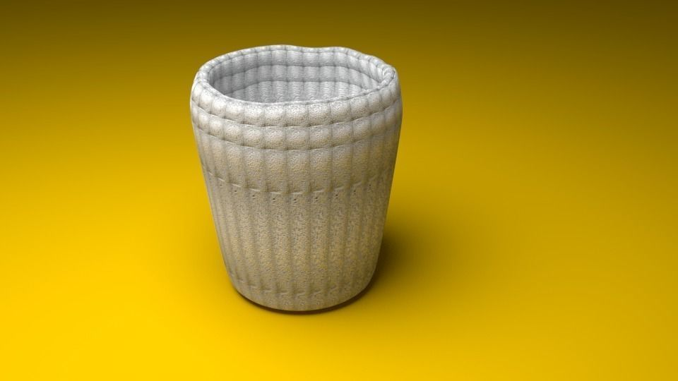 Cup with White Stone Texture
