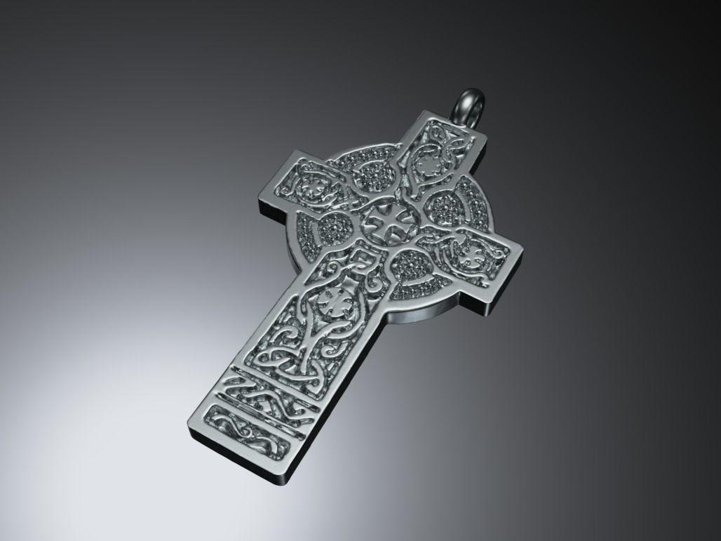Antique celtic cross