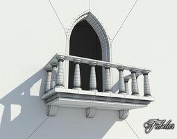 balcony free 3d model realtime
