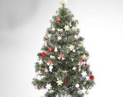 christmas tree 3D model decoration