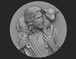 Medallion of Jesus no 3 3D printable model