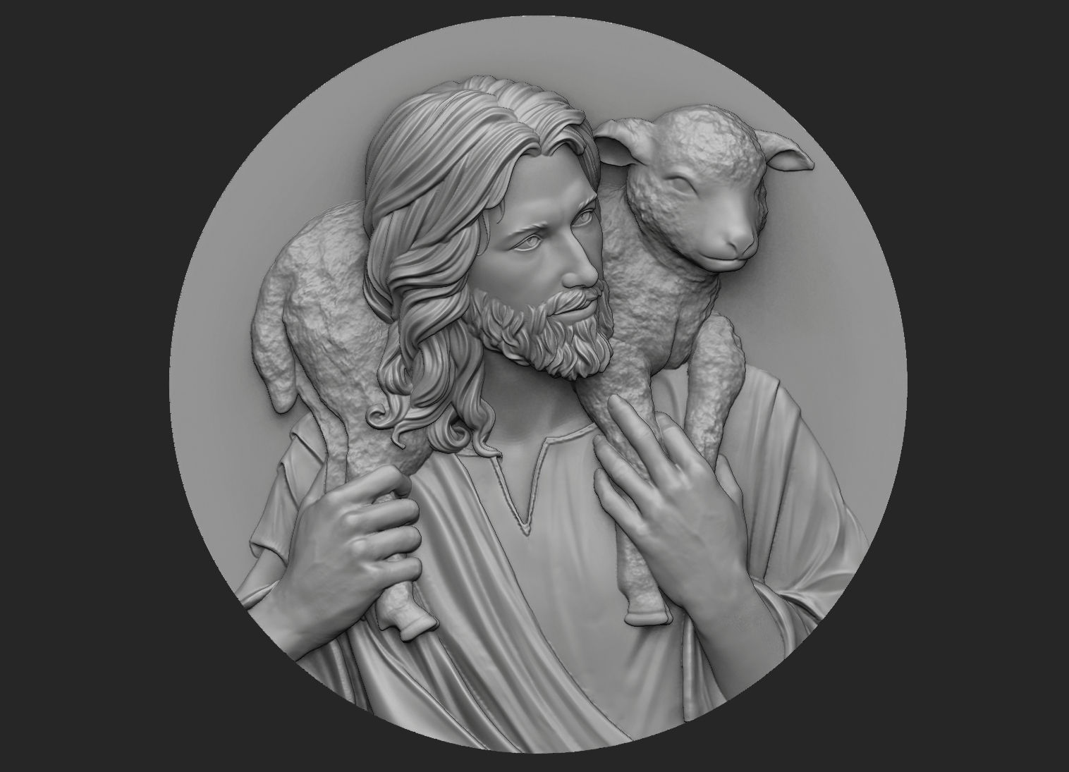 Medallion of Jesus no 3