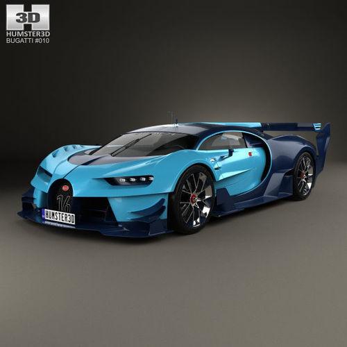 Bugatti Gran Turismo: 3D Bugatti Vision Gran Turismo 2015