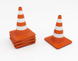 3D construction Traffic cone