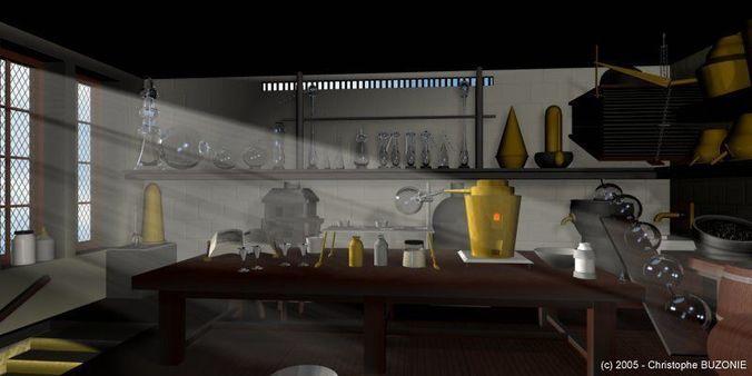 3d Model Alchemy Lab Cgtrader