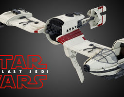 Star Wars Resistance Ski Speeder 3D model