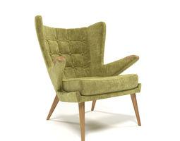 1211 velvet armchair 3D model