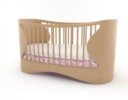 sleeping crib baby 3D