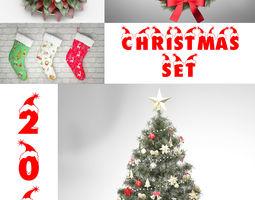 christmas set 3D model