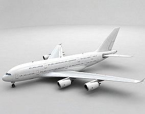 Airbus A380 Airliner - Generic White 3D model