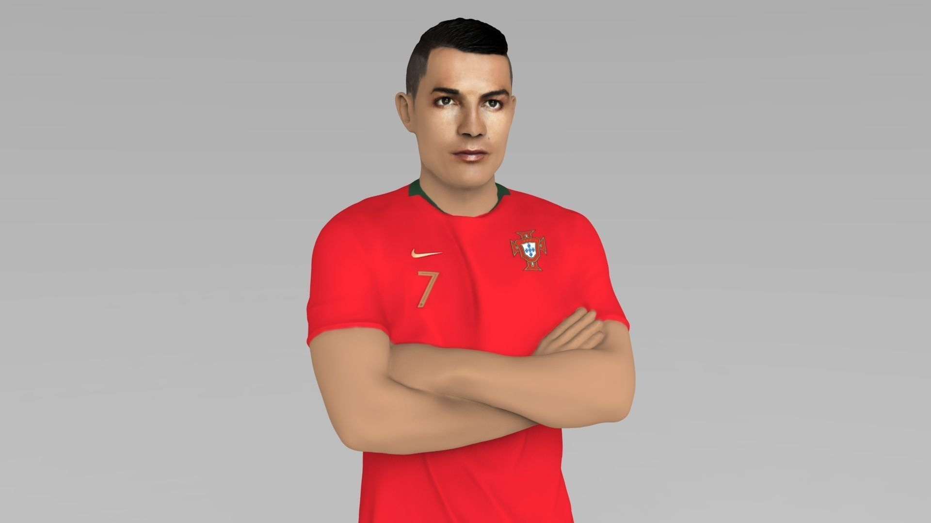 Cristiano Ronaldo Portugal ready for full color 3D printing