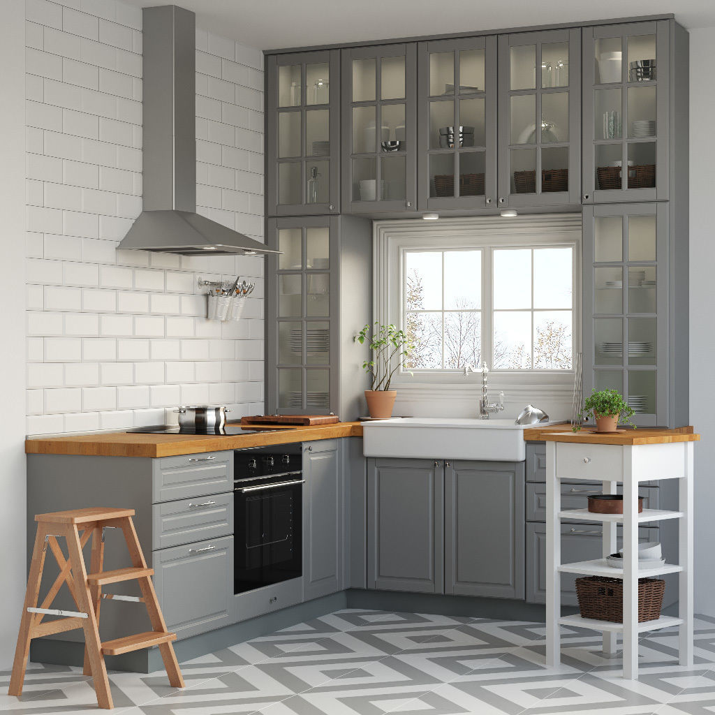 Kitchen ikea metod 3d cgtrader for Ikea cucina 3d