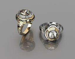 Elegant ring 1 3D print model