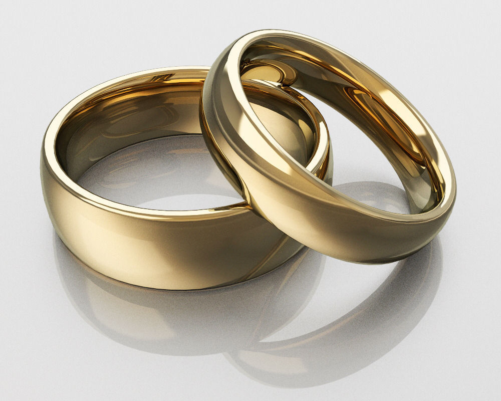 classic wedding rings 3d model stl 3dm 1 - Classic Wedding Rings