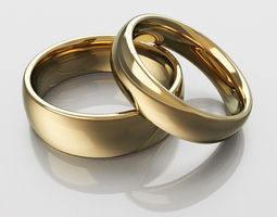 3D printable model Classic wedding rings