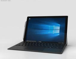 3D Microsoft Surface Pro 4 Black