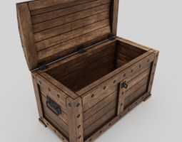3D asset realtime PBR Chest