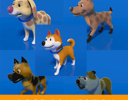 3D model Cartoon Dogs Collection