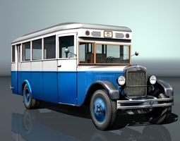 ZIS-8 city bus 3D asset