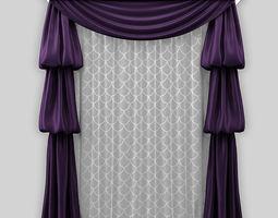 wrinkles curtain draped 3D model