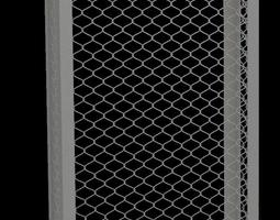 Metal Grid Structure 3D asset