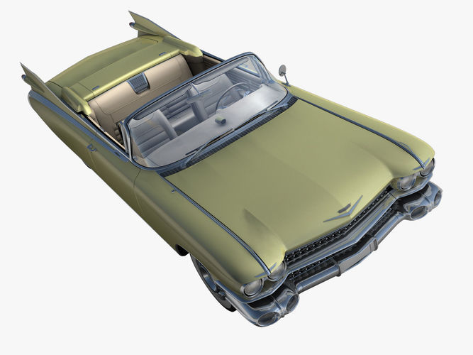 cadillac eldorado 62 series 1959 convertible 3d model max fbx c4d dae 1