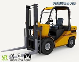 Forklift Truck Low Poly 3D asset