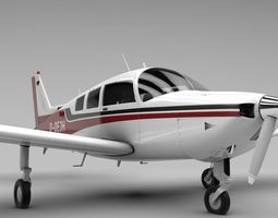 Beechcraft C-23 Sundowner Airplane 3D asset realtime