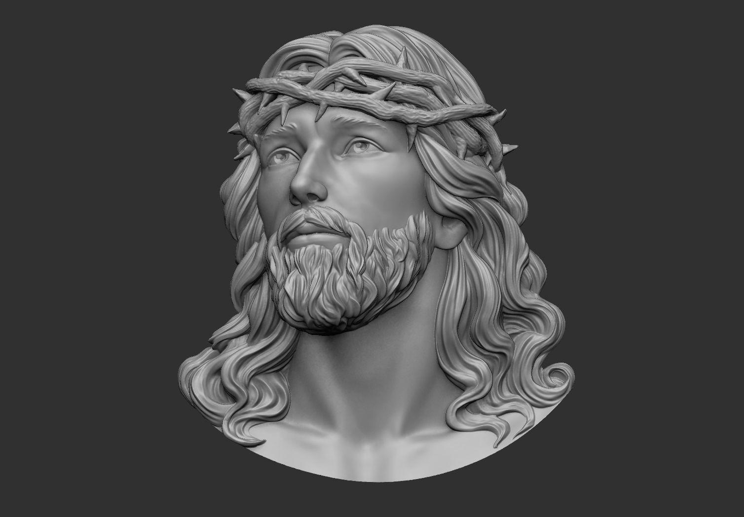Jesus Head pendant 2