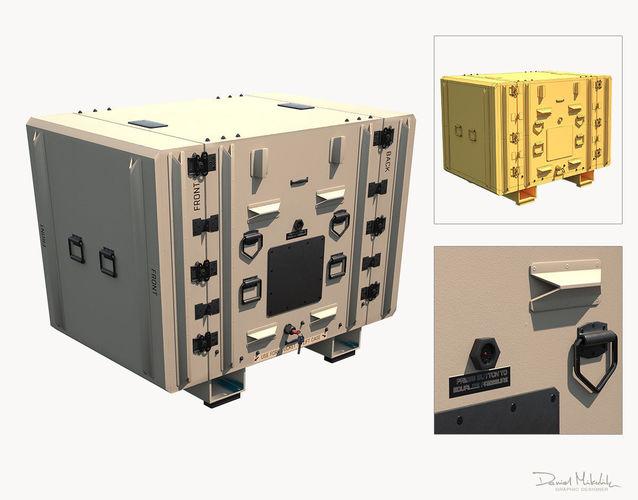 military shipment case pbr 3d model max obj mtl 3ds fbx 1
