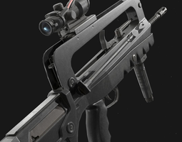 3D model Famas F1 Assault Rifle