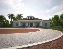 Mediterranean villa architectural 3D model