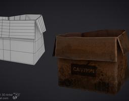 Box game asset low-poly
