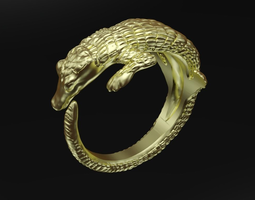 3D printable model Crocodile ring