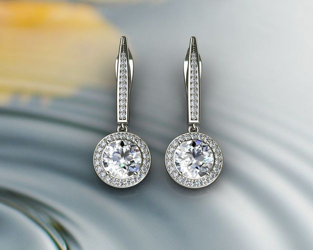 Diamond Earrings Model Stl M 1
